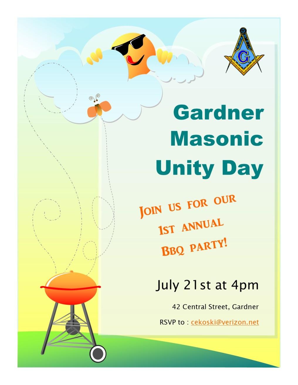 Gardner Masonic Unity Day